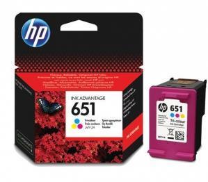 3-i-en farve blækpatron - HP nr.651 - 600 sider