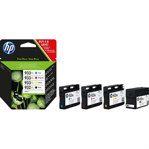 Image of   4-Pak B/C/M/Y patroner - HP nr.932xl/933xl - 1x1000/3x825 sider