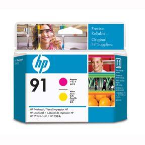 Image of   Magenta og gul printhoved - HP nr.91 -