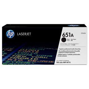 Image of   Sort lasertoner - HP 651A - 13.500 sider