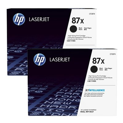 Image of   Sort lasertoner 2pak - HP Nr.87X - 2x18.000 sider