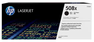 Image of   Sort lasertoner - HP nr.508X - 12.500 sider