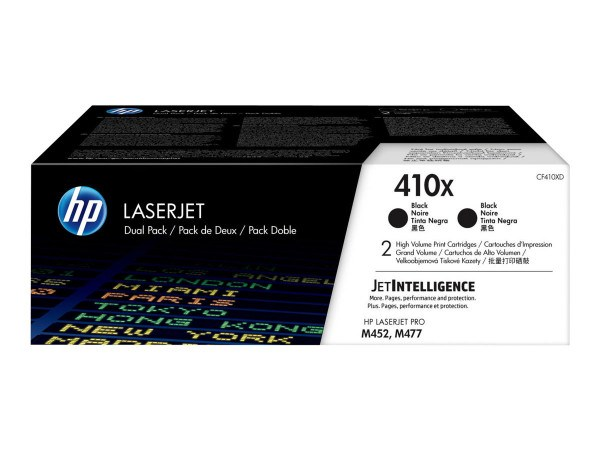 Image of   2-Pak sort toner - HP 410XD - 2x6.500 sider