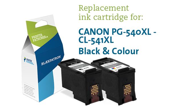 Image of 2-Pak sort og farvet patron - Canon 540XL/541XL - 23+16ml