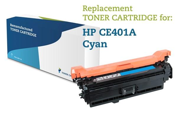Image of   Cyan lasertoner - HP 507A - 6.000 sider