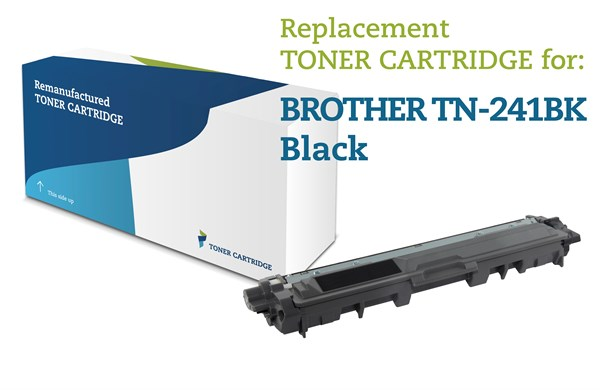 Sort lasertoner - Brother TN241BK - 2.500 sider.
