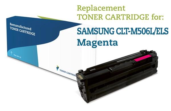 Magenta Lasertoner M506L - Samsung - 3.500 Sider Genfyldt Samsung Miljø-Lasertoner