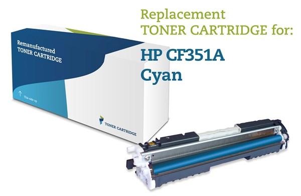 Image of   Cyan lasertoner - HP nr.130A - 1.000 sider