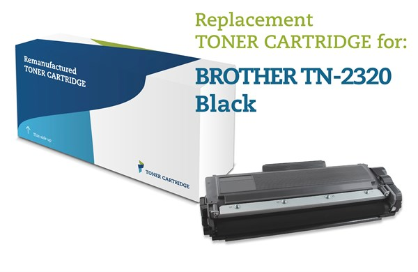 Sort lasertoner - Brother TN-2320 - 2.600 sider