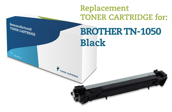 Sort lasertoner 1050  - Brother - 1.000 sider.
