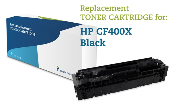 Image of   Sort lasertoner - HP 201X - 2.800 sider