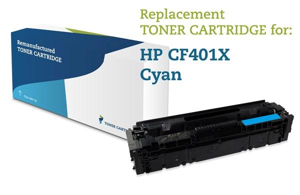 Image of   Cyan lasertoner - HP 201X - 2.300 sider