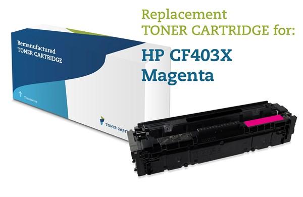 Image of   Magenta lasertoner - HP 201X - 2.300 sider