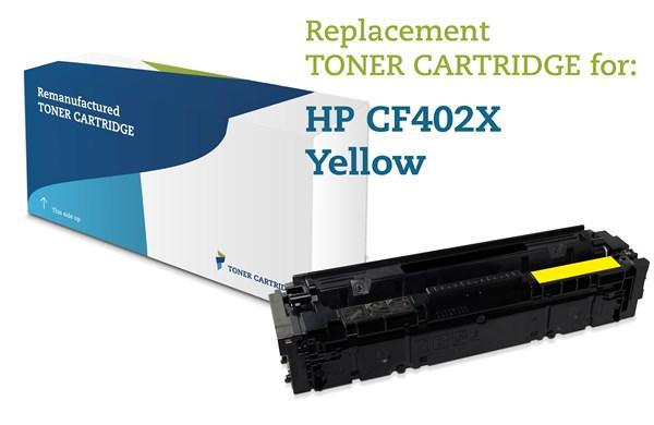 Image of   Gul lasertoner - HP 201X - 2.300 sider