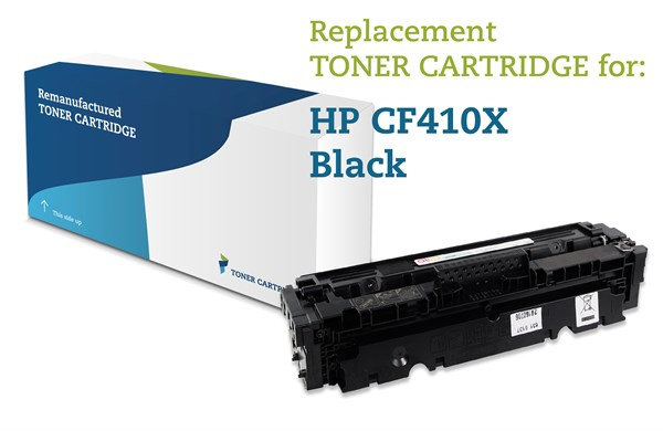 Image of   Sort lasertoner - HP CF410X - 6.500 sider