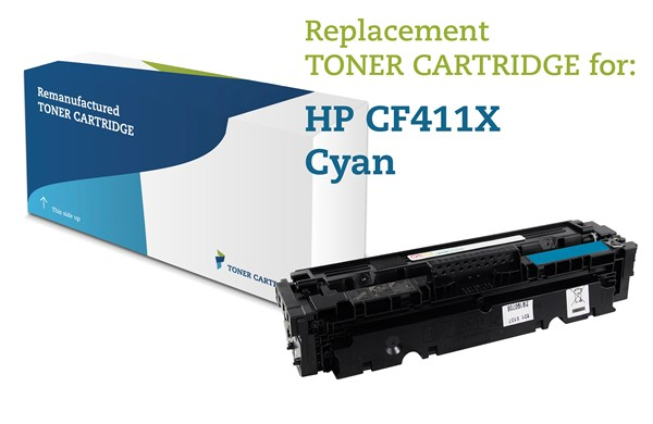 Image of   Cyan lasertoner - HP 411X - 5.000 sider