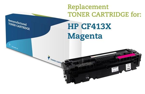 Image of   Magenta lasertoner - HP 413X - 5.000 sider