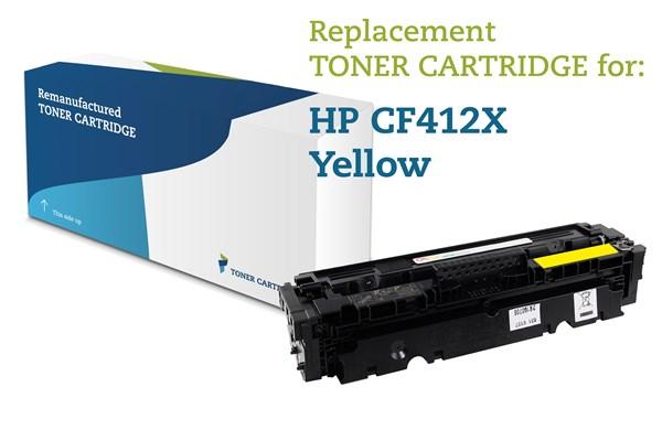 Image of   Gul lasertoner - HP 412X - 5.000 sider