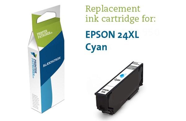 Image of   Cyan blækpatron - Epson 24XLC - 11ml