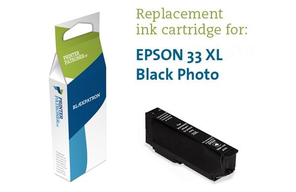 Image of   Photo sort blækpatron - Epson T3361PBK - 11 ml
