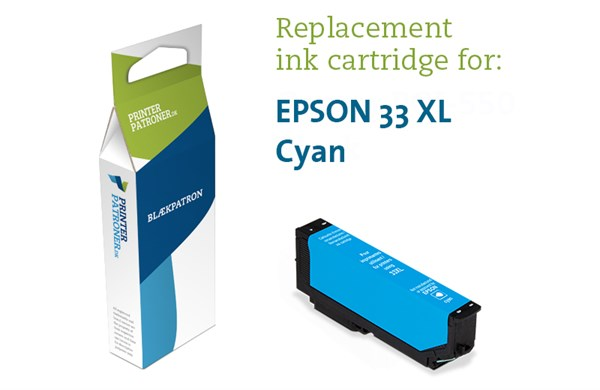 Image of   Cyan blækpatron - Epson T3362C - 11 ml