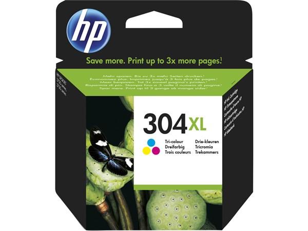 Image of   3-i-en farve blækpatron - HP nr.304XL - 300 sider
