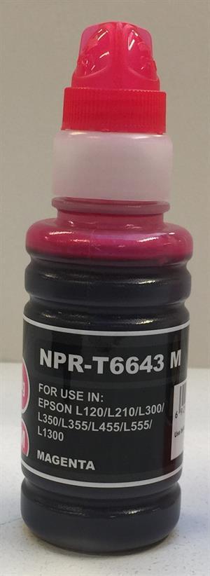 Magenta blæk - T6643 til Epson - 70 ml.