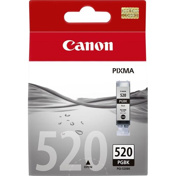 Sort blækpatron 520PGBK - Canon - 19ml.