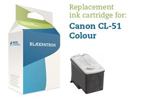 Image of 3-i-en farve blækpatron - Canon CL-51 - 21ml.