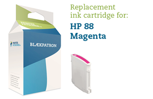 Image of   Magenta blækpatron - HP nr. 88 - 24 ml.