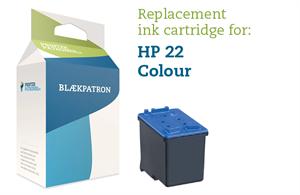 Image of   3-i-en farve blækpatron - HP nr.22XL - 17ml.