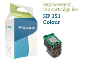 Image of   3-i-en farve blækpatron - HP nr.351 - 12ml