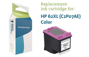 Image of   3-i-en farve blækpatron - HP nr.62XL - 21ml