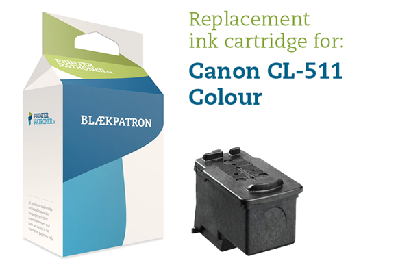 Image of 3-i-en farve blækpatron - Canon nr.511 - 12ml
