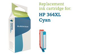 Image of   Cyan blækpatron - HP nr.364 CXL - 12ml.