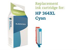 Image of   Cyan blækpatron - HP nr.364 CXL - 12ml.