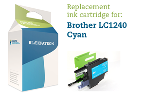 Cyan blækpatron - Brother 1240 - 8 ml