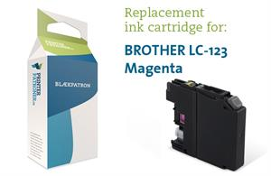 Magenta blækpatron - Brother LC123M - 10ml