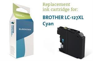 Cyan blækpatron - Brother LC125XL - 13ml