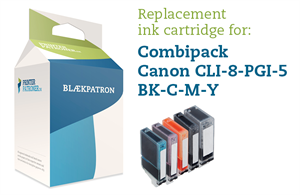 Image of   5-Pak B/PB/C/M/Y patroner - Canon 5/8CMYK - 1x26/4x13ml.
