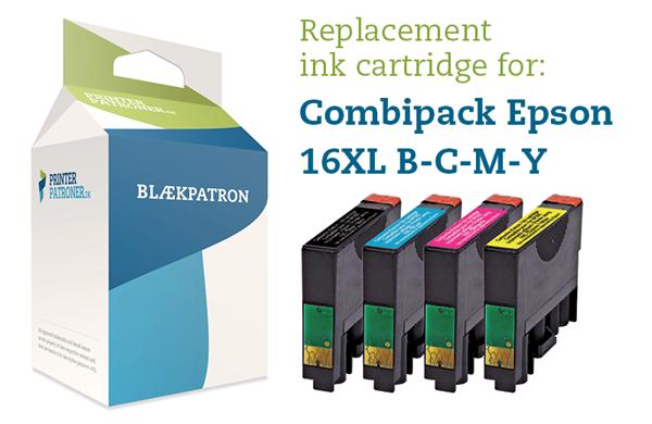4-Pak B/C/M/Y patroner - Epson 16XL - 1x15ml/3x8,5ml