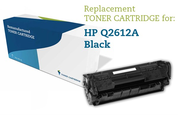 Image of   Sort lasertoner - HP Q2612 A - 2.000 sider