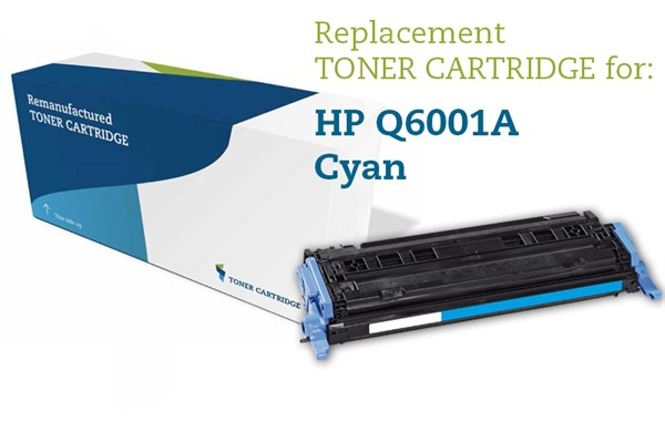 Image of   Cyan lasertoner - HP Q6001A / Canon 707C - 2.000 sider