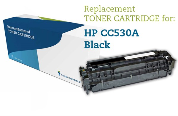 Image of   Sort lasertoner - HP CC530A - 3500 sider