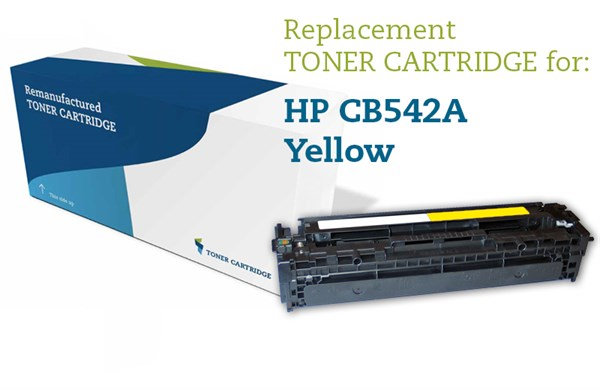 Image of   Gul lasertoner - HP CB542A / Canon 716 - 1.400 sider