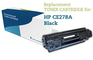 Image of   Sort lasertoner - HP CE278A - 2.100 sider