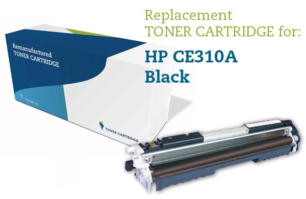 Image of   Sort lasertoner - HP 126A / Canon 729 - 1.200 sider