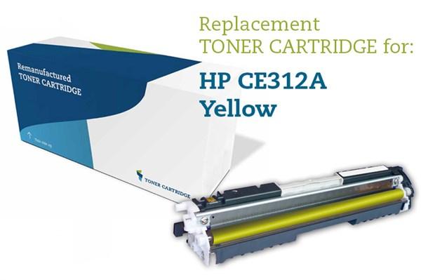 Image of   Gul lasertoner - HP 126A / Canon 729 - 1.000 sider