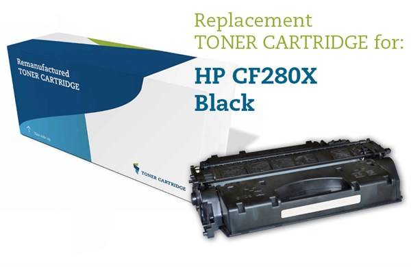 Image of   Sort lasertoner - HP nr.80X - 6.800 sider
