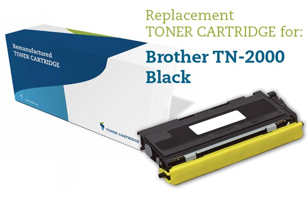 Sort lasertoner 2000 - Brother - 2.500 sider